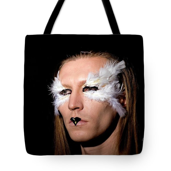 Young Male Model With Make Up Mask 1 Tote Bag