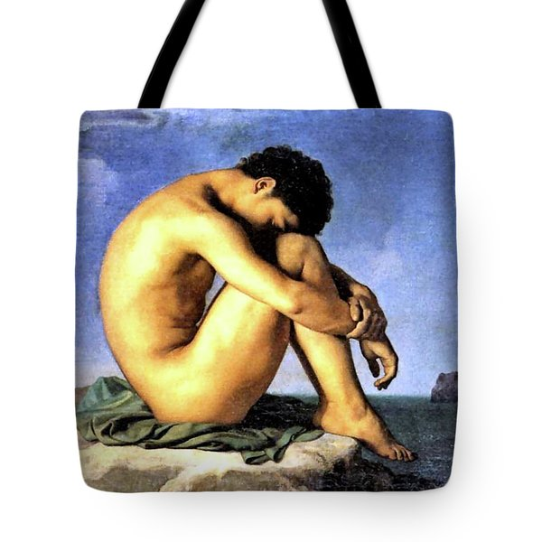 Young Man By The Sea Tote Bag