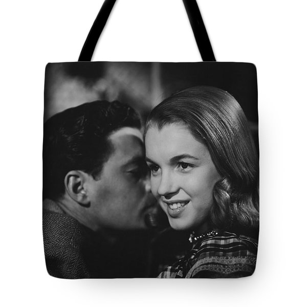 Tote Bag featuring the photograph Young Marilyn Monroe by R Muirhead Art