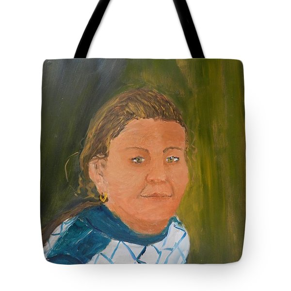 Young Model Tote Bag