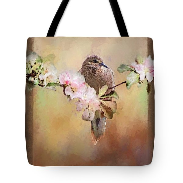 Young Morning Dove Tote Bag by Suzanne Handel