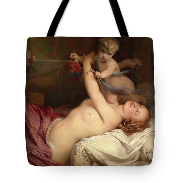 Young Mother With Child Tote Bag