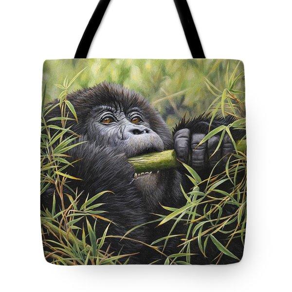 Young Mountain Gorilla Tote Bag