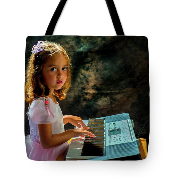 Young Musician Tote Bag