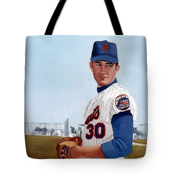 Young Nolan Ryan - With Mets Tote Bag