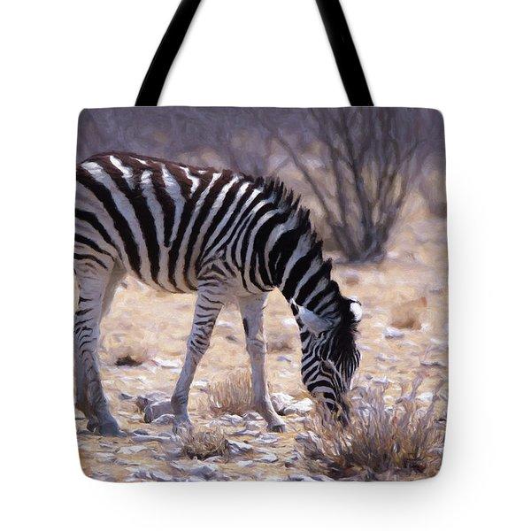 Young Plains Zebra Tote Bag by Ernie Echols