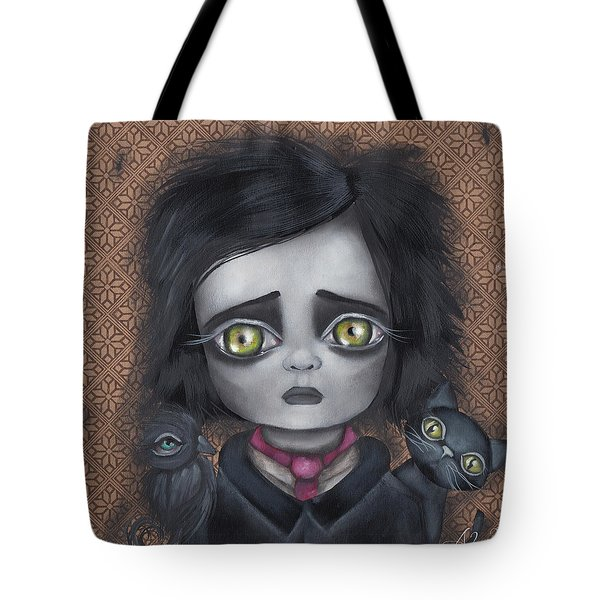 Young Poe Tote Bag