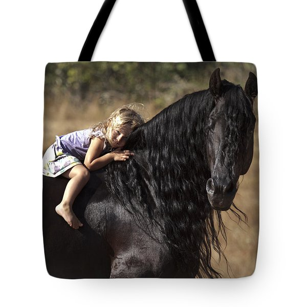 Young Rider Tote Bag by Wes and Dotty Weber