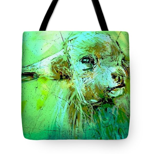 Young Sheep Tote Bag by Jim Vance