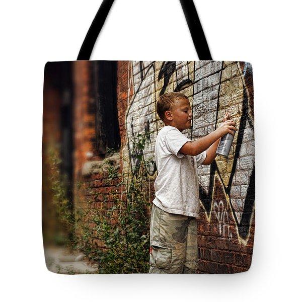 Young Vandal Tote Bag by Gordon Dean II