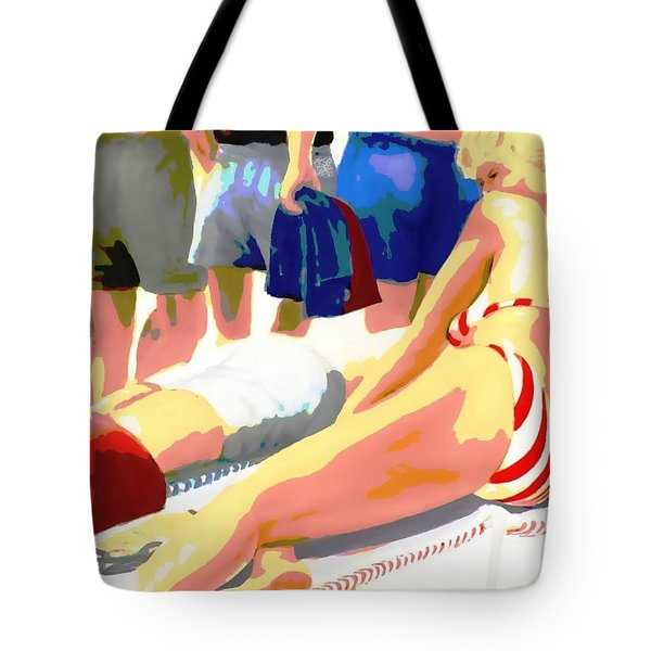 Young Woman On A Chaise Tote Bag