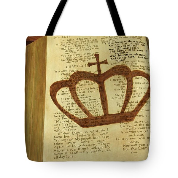 Your God Reigns Tote Bag by Jennifer Watson
