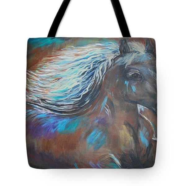 Tote Bag featuring the painting Your Majesty by Leslie Allen