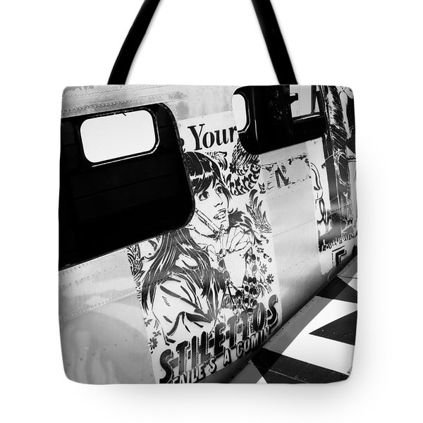 Tote Bag featuring the photograph Your Stilletos by Chris Dutton