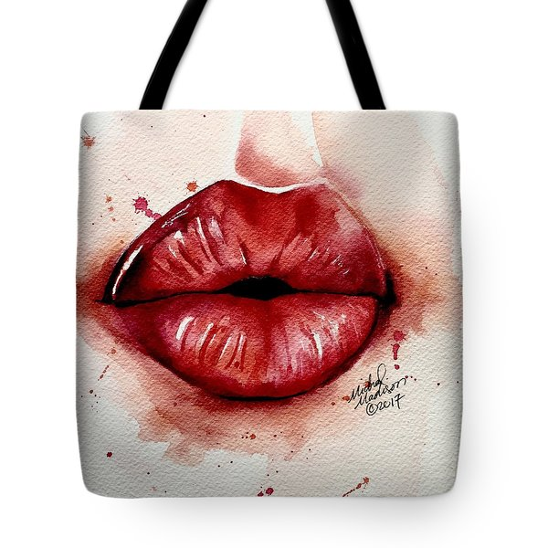 Tote Bag featuring the painting Your  Whisper by Michal Madison
