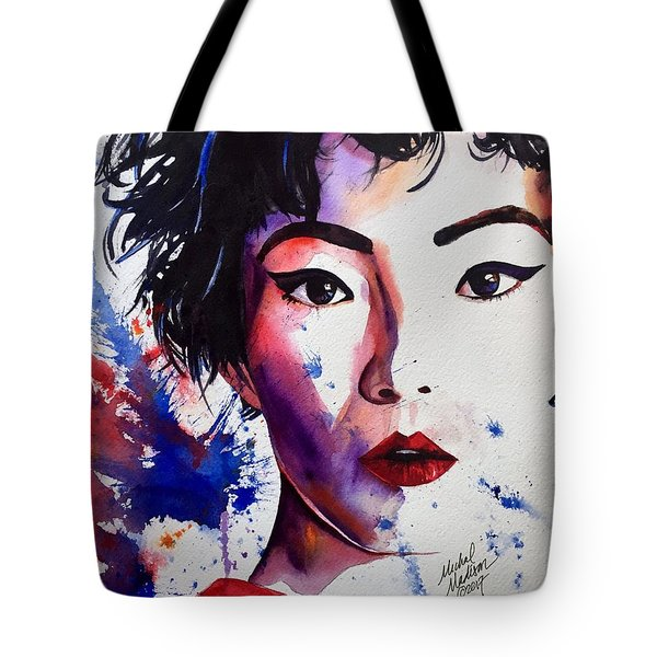 Tote Bag featuring the painting You're A Firework  by Michal Madison