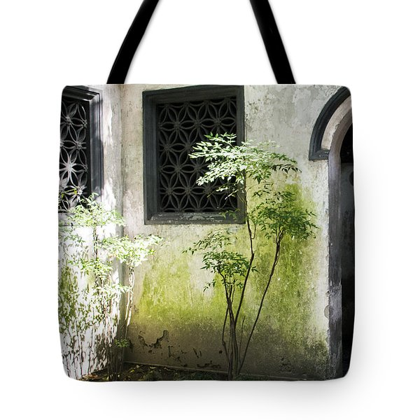 Tote Bag featuring the photograph Yuan Garden by Angela DeFrias