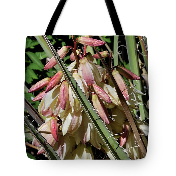 Tote Bag featuring the photograph Yucca Bloom I by Ron Cline