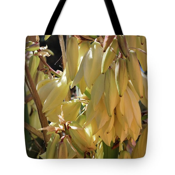 Tote Bag featuring the photograph Yucca Bloom II by Ron Cline