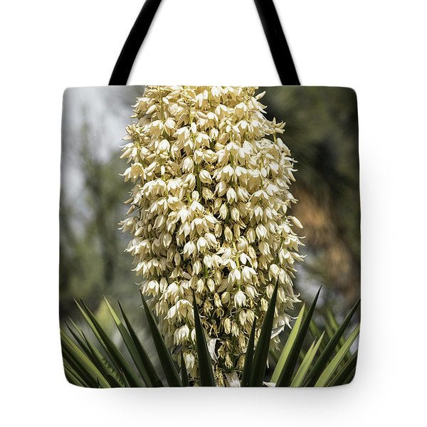 Tote Bag featuring the photograph Yucca Flowers In Bloom  by Saija Lehtonen