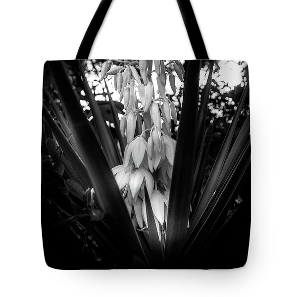 Yucca In The Woods In Black And White Tote Bag