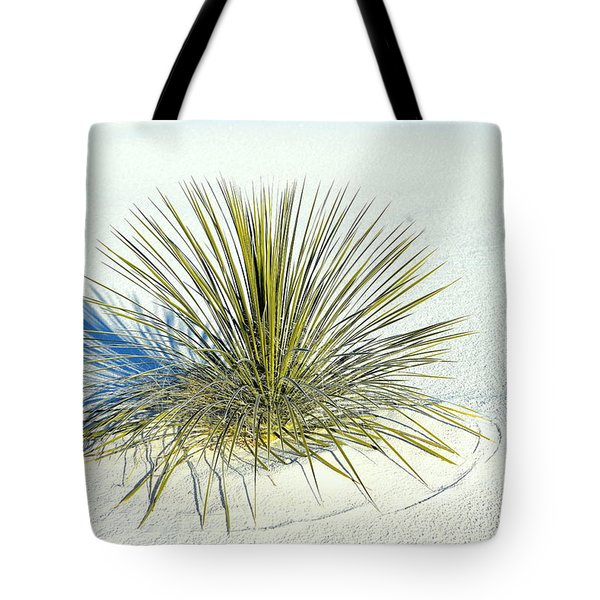 Yucca In White Sand Tote Bag by Jerry Cahill