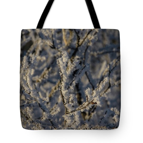 Tote Bag featuring the photograph Yukon Snow Scene 3 by Phyllis Spoor