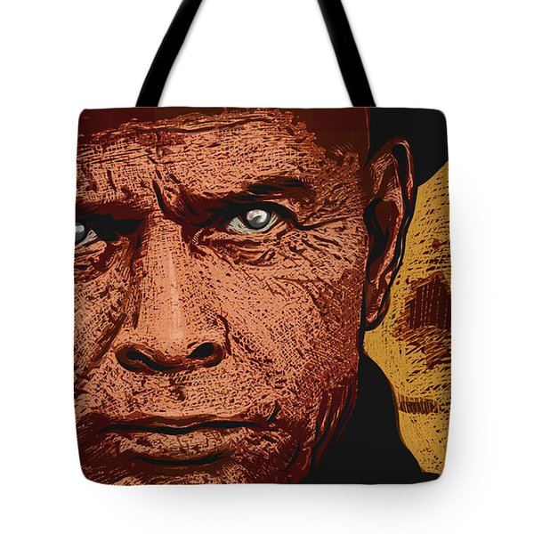 Tote Bag featuring the digital art Yul Brynner by Antonio Romero