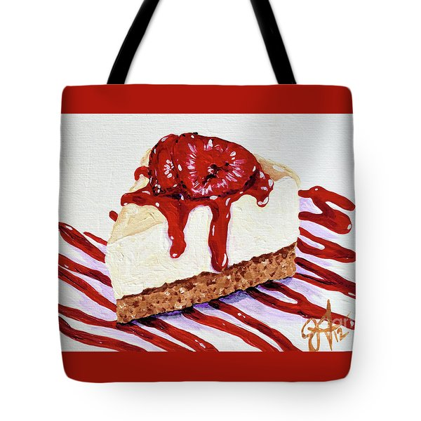 Tote Bag featuring the painting Yumminess by Jackie Carpenter
