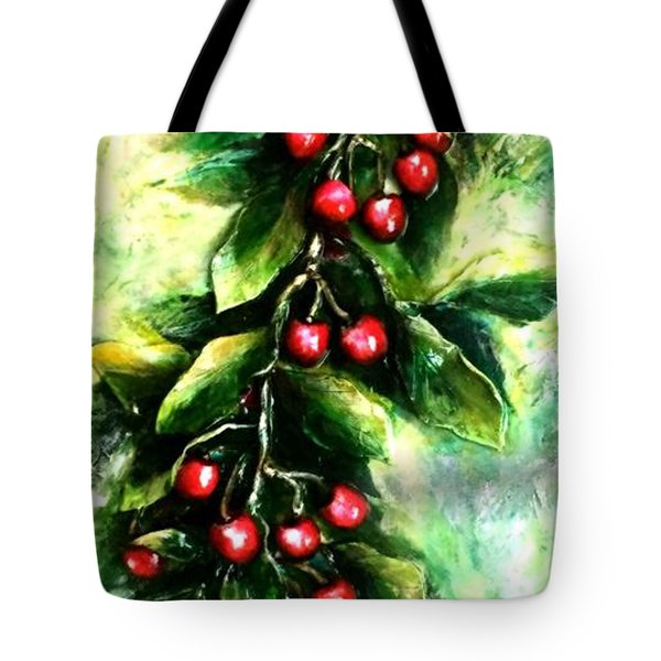 Yummy Cherries Tote Bag