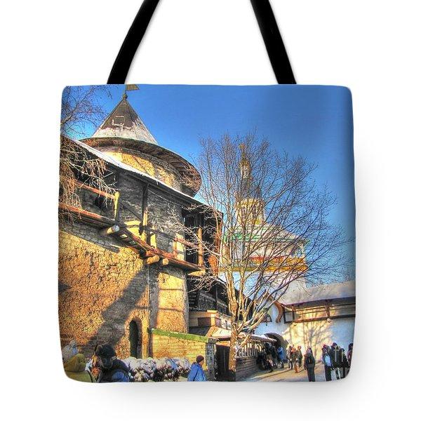 Tote Bag featuring the pyrography Yury Bashkin Castl Russia by Yury Bashkin