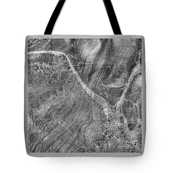 Tote Bag featuring the drawing Yury Bashkin Grey Wind by Yury Bashkin