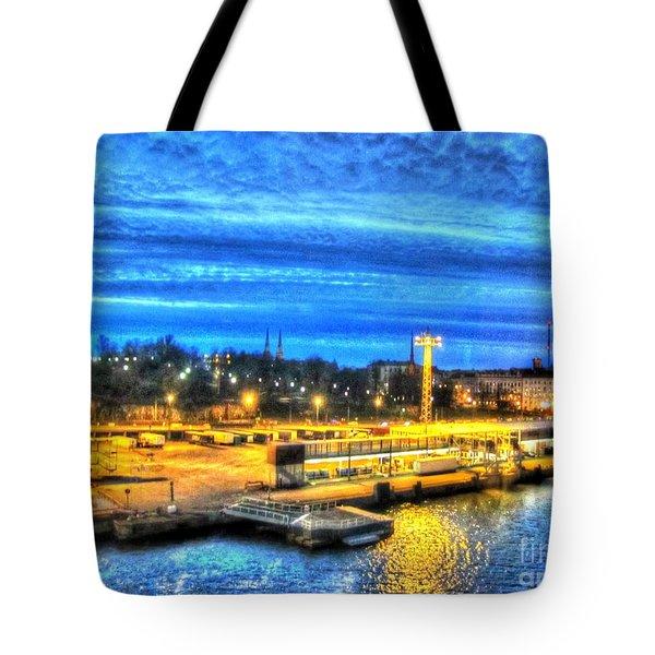 Tote Bag featuring the pyrography Yury Bashkin Helsinki Finland by Yury Bashkin