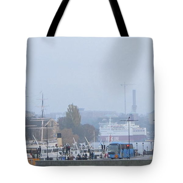 Tote Bag featuring the pyrography Yury Bashkin Stokholm  Swiss by Yury Bashkin