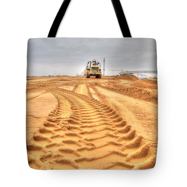 Yury Bashkin The Road On The Construction Tote Bag by Yury Bashkin