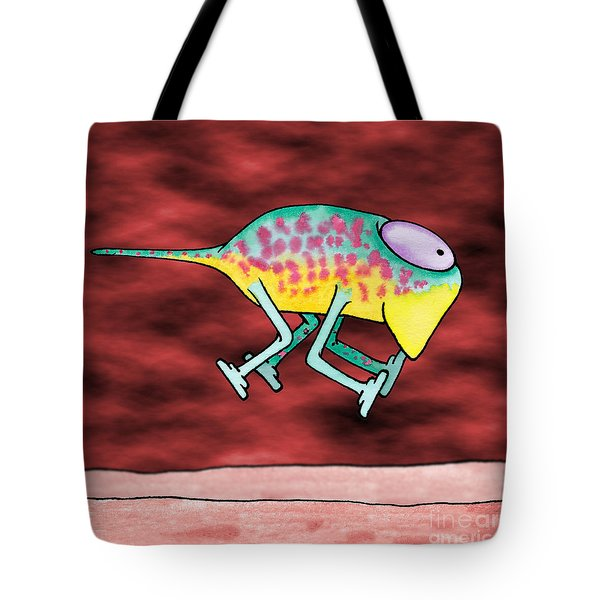 Tote Bag featuring the drawing Yuuki by Uncle J\'s Monsters