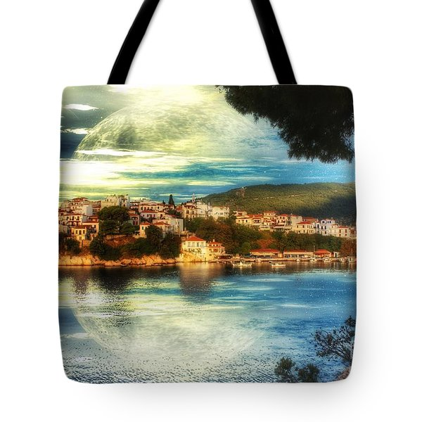 Tote Bag featuring the digital art Yvonnes World by Isabella F Abbie Shores FRSA