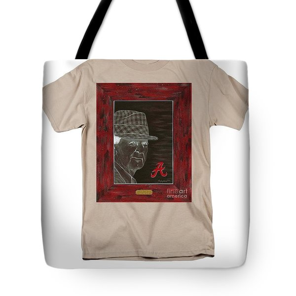 Bear Bryant  Tote Bag by Herb Strobino