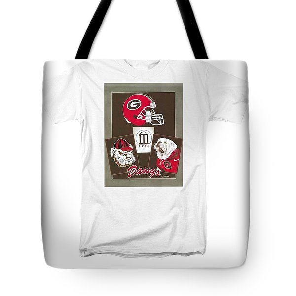 Dawgs Poster Tote Bag by Herb Strobino