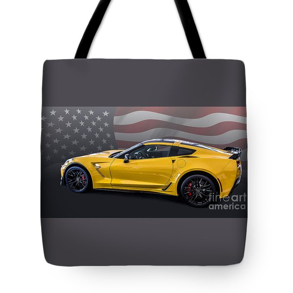 Z06 America Tote Bag by Roger Lighterness