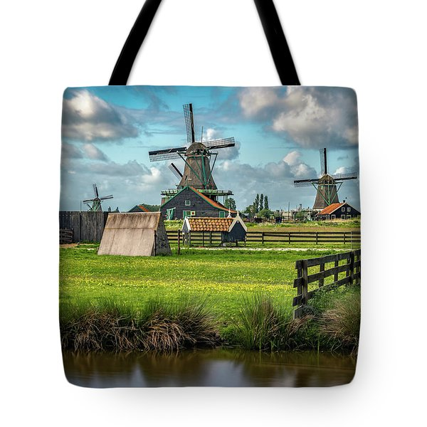 Zaanse Schans And Farm Tote Bag by James Udall