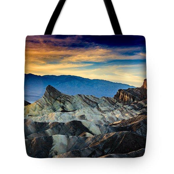 Zabriskie Point At Sundown Tote Bag by Janis Knight