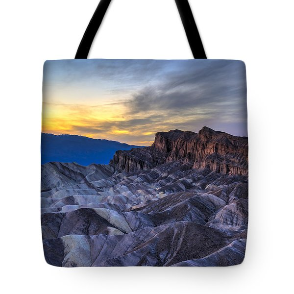 Zabriskie Point Sunset Tote Bag by Charles Dobbs