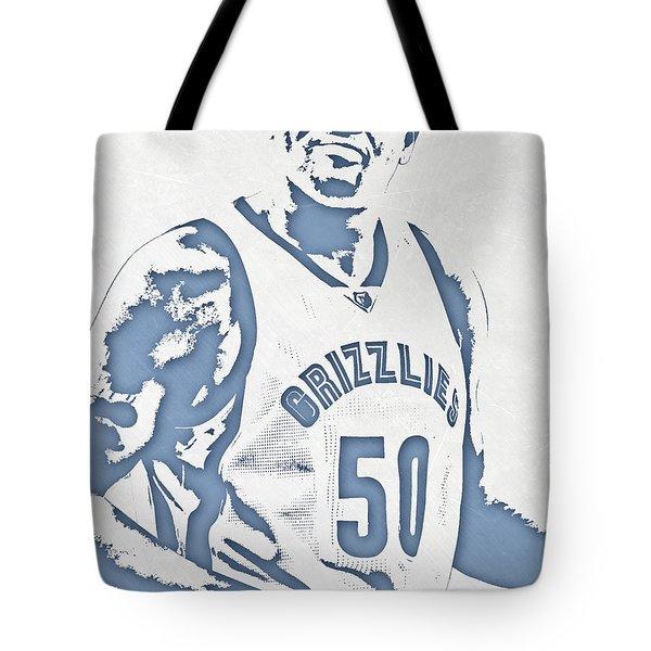 Zach Randolph Memphis Grizzlies Pixel Art Tote Bag