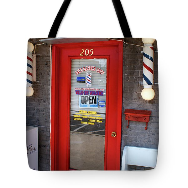 Zacs Barber Shop Tote Bag