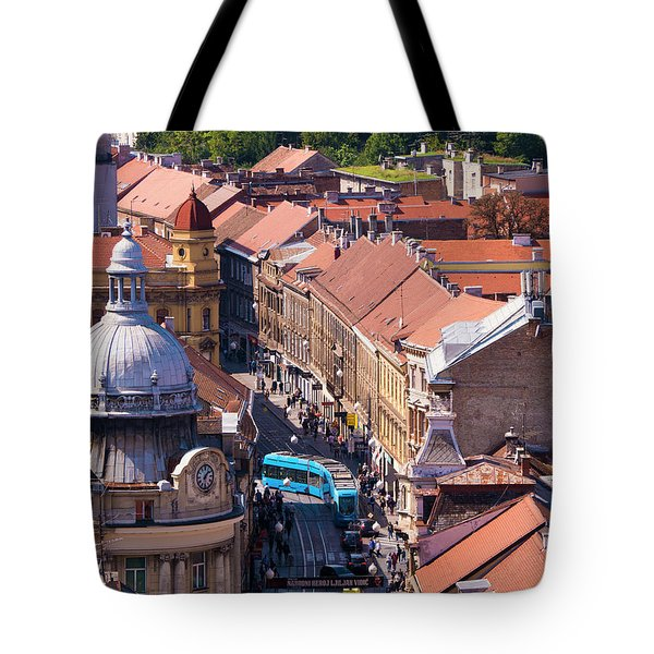 Zagreb Afternoon Tote Bag by Rae Tucker