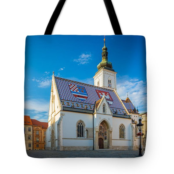 Zagreb St Mark's Church Tote Bag