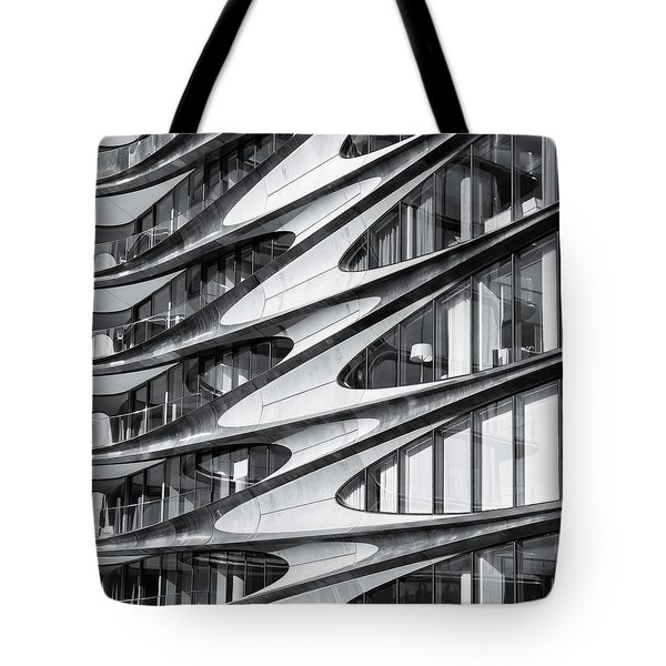 Tote Bag featuring the photograph zaha hadid Architecture in NYC by Michael Hope