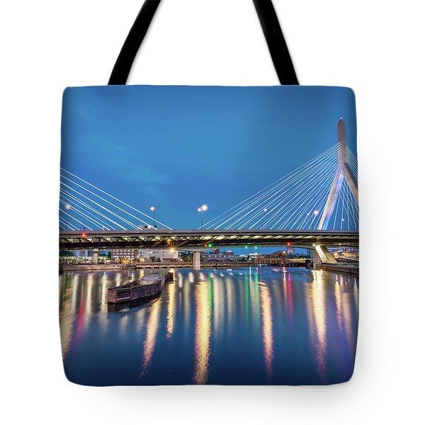 Zakim Bridge And Charles River At Dawn Tote Bag