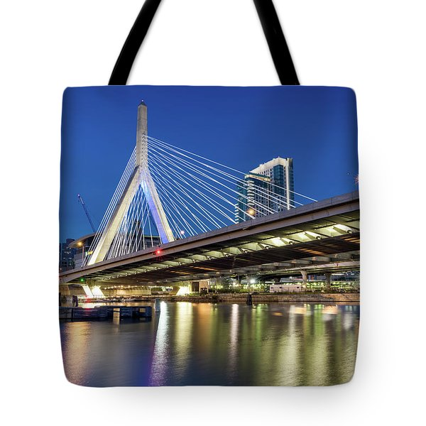 Zakim Bridge And Charles River Tote Bag